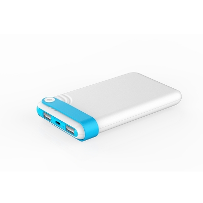 10000mAh Dual USB Portable Power Bank with keychain