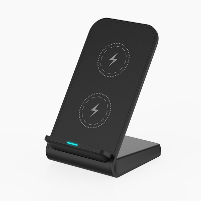 Dual Coil 10W Qi Wireless Charging Stand
